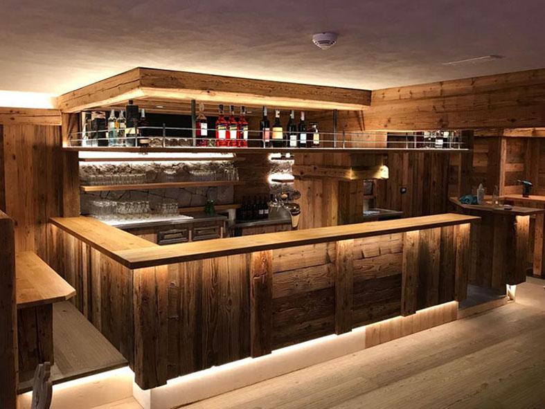 Bareinrichtung Theke Gastronomie Bar Küche Kühlgerät